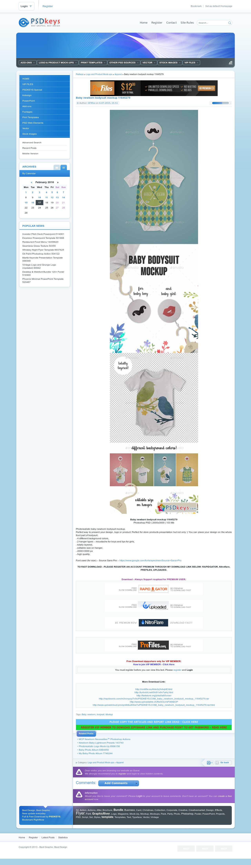 Baby newborn bodysuit mockup 11645279 » Free Download