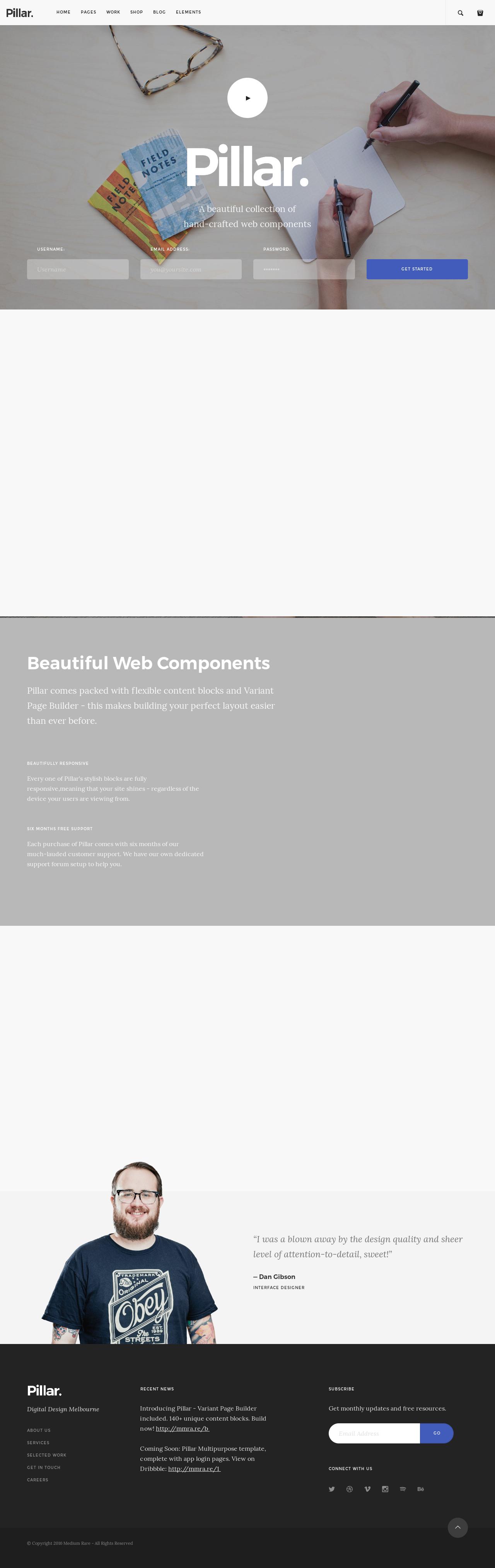 Pillar Multipurpose HTML Template | Hypershoot
