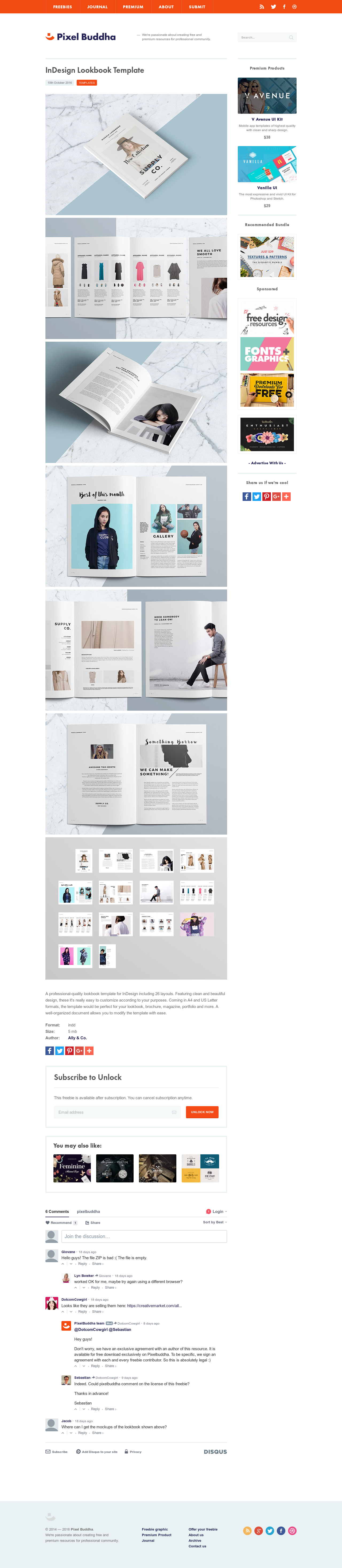 indesign lookbook template download free templates by pixelbuddha