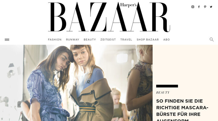 Screenshot of Harpersbazaar