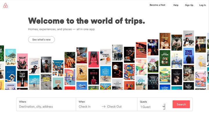 Screenshot of Airbnb