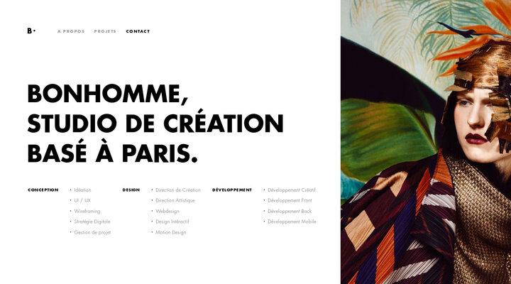 Screenshot of Bonhommeparis