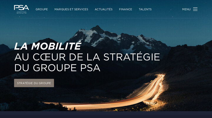 Screenshot of Groupe-psa