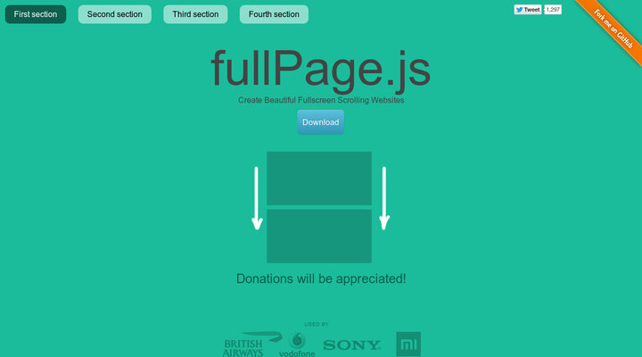 multiscroll js - split multi-scrolling pages plugin | Hypershoot