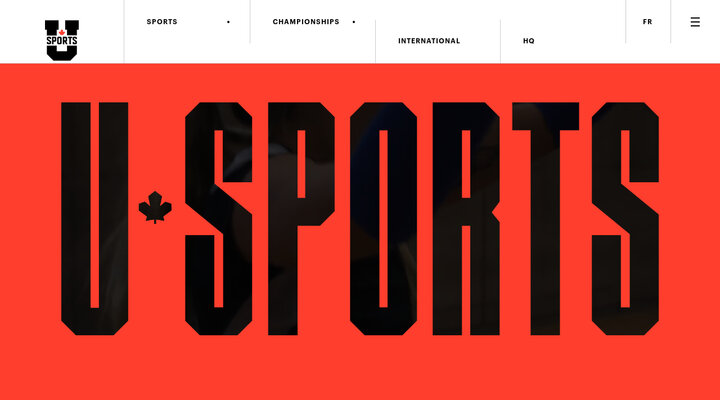 Screenshot of Usports