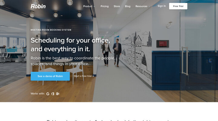 Meeting room booking system made easy - Robin | Hypershoot