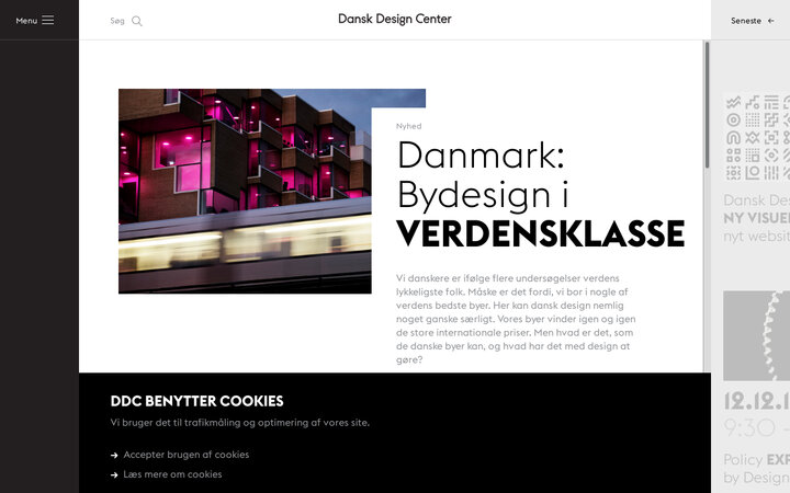 Screenshot of Danskdesigncenter
